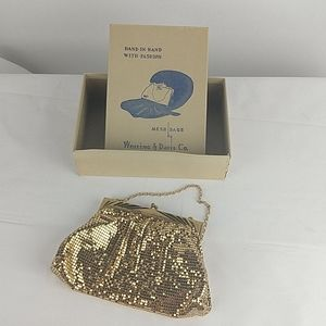 Vintage Clutch Small Evening Bag Gold